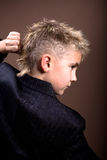 Boys hairstyle Royalty Free Stock Photos