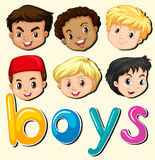 Boys with happy face. Illustration Royalty Free Stock Photography