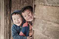 Boys with happy smile in Arunachal Pradesh Royalty Free Stock Images
