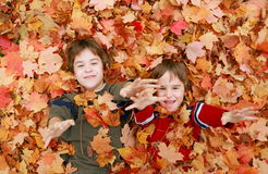 Boys Having Fun Stock Images