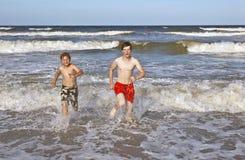 Boys having fun in the beautiful Stock Photography