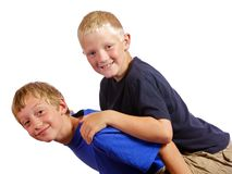Boys having a little fun Royalty Free Stock Photos