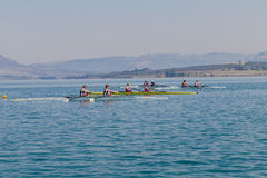 Boys Hilton Doubles Regatta Starting Line Stock Images