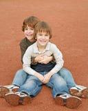 Boys Hugging Stock Photo