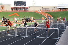 Boys Hurdle Race Royalty Free Stock Images