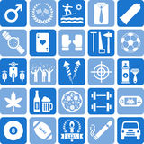Boys icons. This is a collection of icons related with men & boys Stock Photo