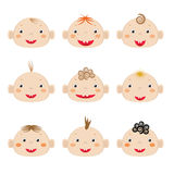 Boys icons Stock Images