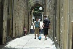 Boys in Jerusalem Stock Images