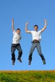 Boys jumping Royalty Free Stock Photo