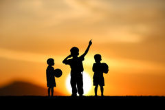 Boys jumping Royalty Free Stock Photo