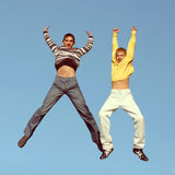 Boys jumping Royalty Free Stock Photography