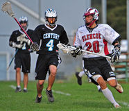 Boys Lacrosse advance Royalty Free Stock Photography