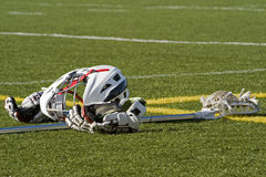 Boys lacrosse gear Stock Photography