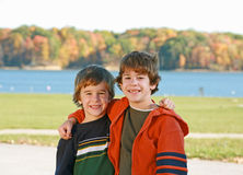 Boys at the Lake Royalty Free Stock Images