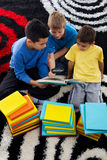 Boys learn Stock Image