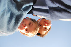 Free Boys Looking Down Royalty Free Stock Photography - 4195697
