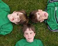 Boys Making Faces stock images