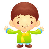 Boys mascot the direction of pointing with both hands. Korea Tra Royalty Free Stock Image