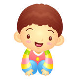 Boys Mascot is a polite greeting. Korea Traditional Cultural cha Stock Image