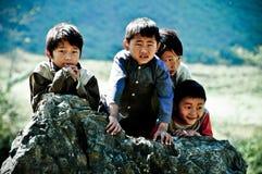 Boys in Moc Chau, Vietnam Stock Image