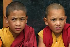 BOYS IN MONASTERY OF LADAKH Stock Image