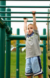 Boys on Monkey Bars royalty free stock photos