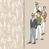 Boys People sketch Royalty Free Stock Photography