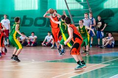 Free Boys Play Basketball, Orenburg, Russia Royalty Free Stock Image - 54180186