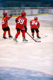 Boys play ice hockey. Youth boys play ice hockey royalty free stock photos