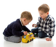 Boys playing stock photography