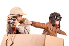 Boys playing adventure Stock Photography