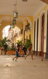Boys playing ball in Havana Royalty Free Stock Image