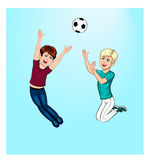 Boys playing ball Stock Image