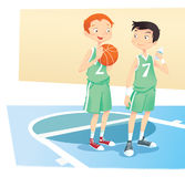 Boys playing basket ball Royalty Free Stock Photo