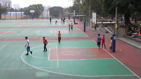 Boys Playing Basketball at the Tunghai University. HD stock footage