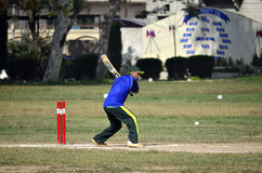 Boys Playing Cricket in Pakistan! Stock Image