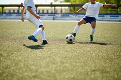 Boys Playing Football Stock Photography