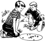 Boys Playing Marbles Stock Photography