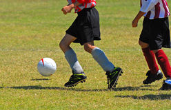 Boys playing Soccer Stock Photo