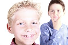 Boys, Portrait, Brothers, People Royalty Free Stock Photo