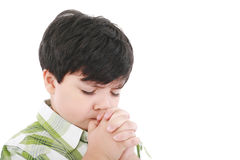 A boys prays Stock Images