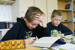 Boys at primary school. Royalty Free Stock Photo
