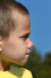 Boys Profile Royalty Free Stock Photography