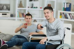 Boys relaxing in house. Boys relaxing in the house Royalty Free Stock Images