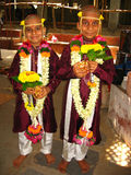 Boys at Sacred Thread ceremony Stock Photos