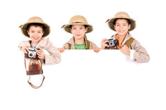 Boys in Safari clothes Royalty Free Stock Photography