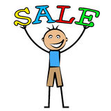 Boys Sale Represents Childhood Male And Promo Royalty Free Stock Images