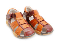 Boys sandals Royalty Free Stock Image