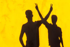Boys Shadows Friends Hang Out Royalty Free Stock Images