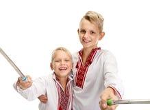 Boys shooting selfie Royalty Free Stock Image